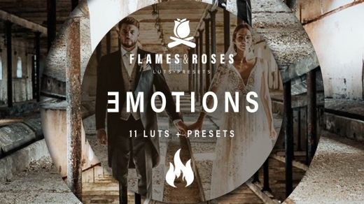 LUT预设,情绪电影胶片视频调色LUT预设 Flames and Roses – Emotions LUTs ,效果图 LUT预设下载
