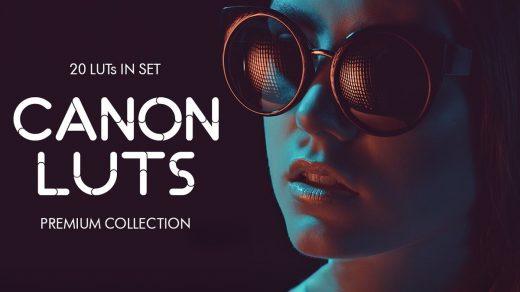 LUT预设,20组佳能Canon视频剪辑分级调色LUT预设下载 Canon video LUTs ,效果图 LUT预设下载