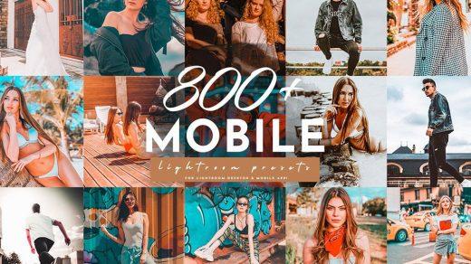 800+Vlog时尚旅拍夜景扫街胶片人像手机移动APP调色LR预设合集 Lightroom预设,效果图1