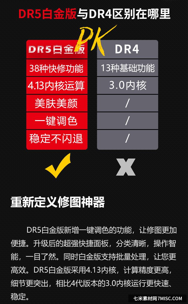 PS一键磨皮插件DR5白金版win/mac(支持PS2020) ,效果图2