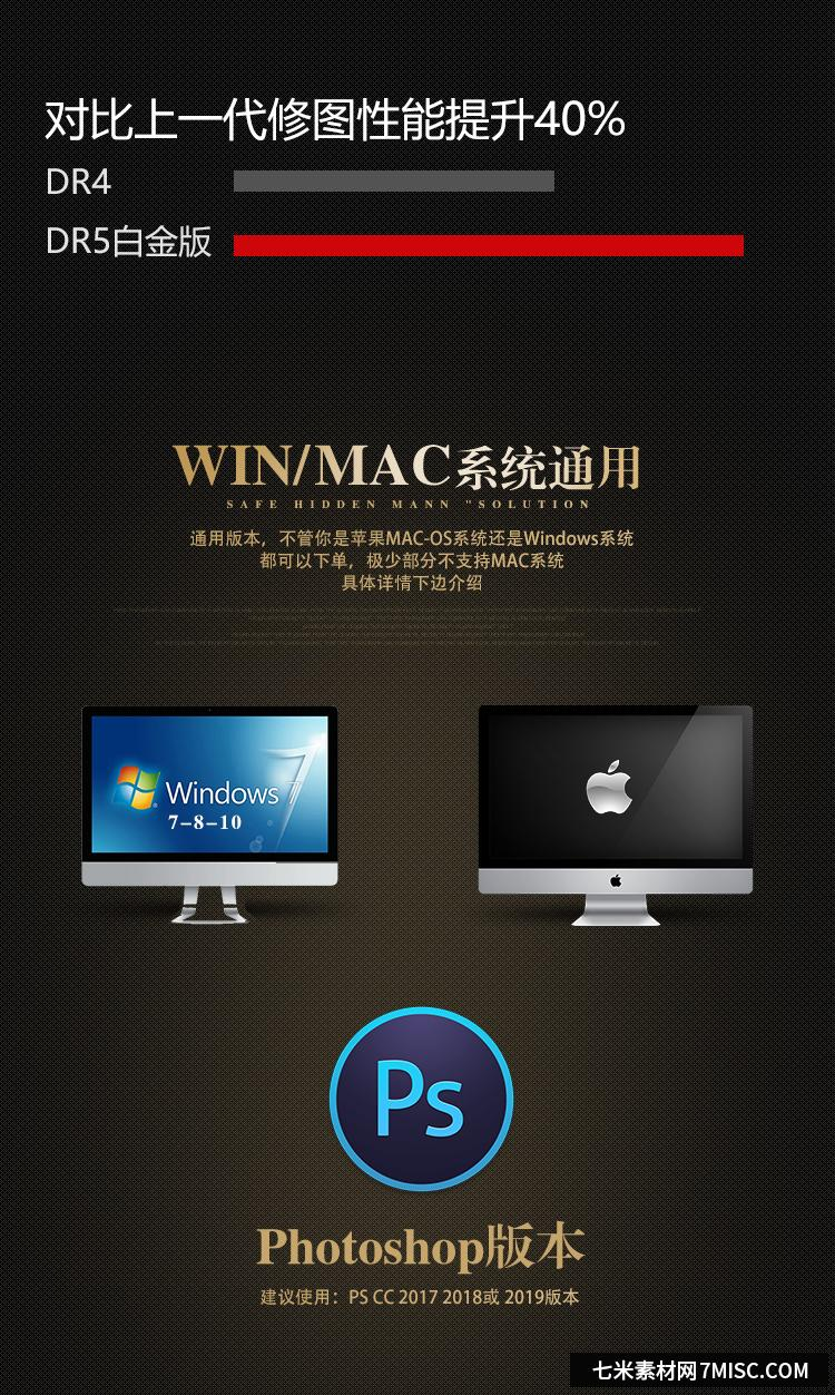 PS一键磨皮插件DR5白金版win/mac(支持PS2020) ,效果图3