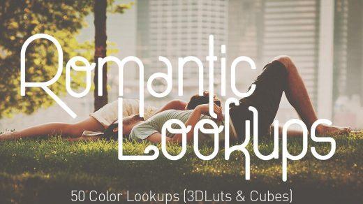 50专业浪漫电影风格3D Luts Lookups预设(FCPX/达芬奇/AE/PS/PR)缩略图