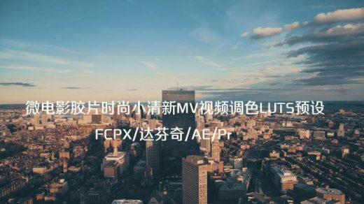 微电影胶片时尚小清新MV视频调色LUTS预设(FCPX/达芬奇/AE/Pr等)缩略图