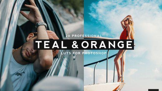 LUT预设,20个专业旅拍电影视频调色LUT预设-蓝绿色和橙色LUT下载 ,效果图 LUT预设下载