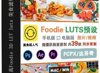 原创真Foodie转3D LUT luts 美食小清新滤镜PS PR AE fcpx/预设缩略图