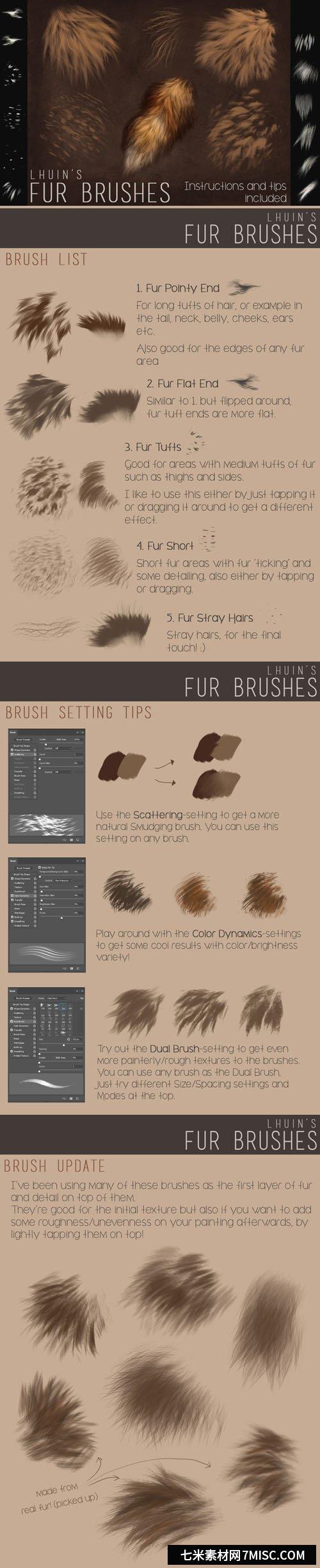 Photoshop +更新的毛刷插图