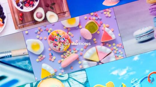 After Effects模板-动画效果照片和视频剪辑转场Brick Transitions缩略图
