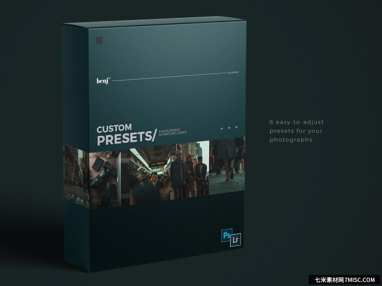 benj™-日系街拍电影胶片风格自定义LR预设 benj™ Custom Presets Lightroom预设,效果图1